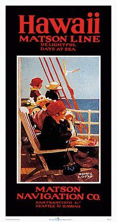 Hawaii , Matson Navigation Company travel 1936