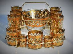 Culver Barware Valencia Vintage Glassware 19 Piece by FabsAndFaves