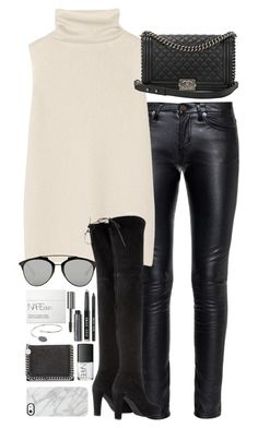 """""""Untitled #1844"""" by roxy-camarena on Polyvore featuring Yves Saint Laurent, The Row, Stuart Weitzman, Christian Dior, Chanel, NARS Cosmetics, Bobbi Brown Cosmetics, STELLA McCARTNEY, Topshop and Uncommon"""