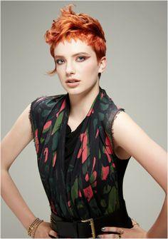 Vibrant copper/red hair colour