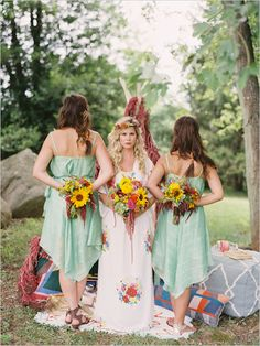 Events in the city boho chic style wedding