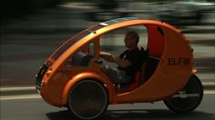 Organic Transit's  ELFs   ---   A bicycle (Trike) with solar powered electric motor reaches 30 m.p.h.