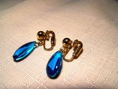 Sarah Coventry  Rare Blue Twilight  Earrings by lucylucylemon, $24.99