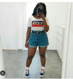 - Source by lillynjie - Thick Girls Outfits, Curvy Girl Outfits, Cute Casual Outfits, Plus Size Outfits, Chubby Fashion, Curvy Girl Fashion, Looks Plus Size, Look Plus, Summer Dress
