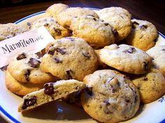 Recette Cookies aux pépites de chocolat super moelleux