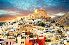 Syros is a Greek island in the Cyclades, in the Aegean Sea. It is located 78 nautical miles  south-east of Athens. The area of the island is 83.6 km2  and it has 21,507 inhabitants. The largest towns are Ermoupoli, Ano Syros, and Vari. Ermoupoli is the capital of the island and of the Cyclades. It has always been a significant port town, and during the 19th century it was even more significant than Piraeus.