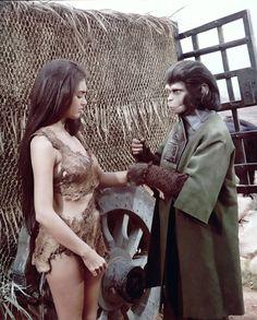 Nova (Linda Harrison) and Zira (Kim Hunter). Planet of the Apes (1968).
