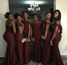 Custom Made Splendid Burgundy Bridesmaid Dress, Mermaid Bridesmaid Dress, Long Bridesmaid Dress, Red Mermaid Bridesmaid Dress Mermaid Bridesmaid Dresses, Burgundy Bridesmaid Dresses, Mermaid Dresses, Prom Dresses, Royal Blue Bridesmaids, Wedding Attire, Wedding Gowns, Wedding Venues, Wedding Ideas