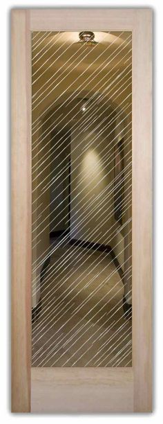 Brushed Aluminum - Glass Door Sandblasted Glass decorative glass by Sans Soucie Art Glass.