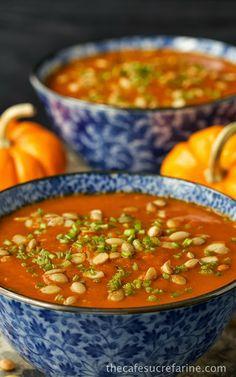 Southwestern Pumpkin & Roasted Red Pepper Soup | The Café Sucré Farine