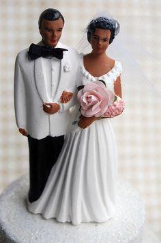 Items similar to Vintage African American Wedding Cake Topper Chalkware Anniversary Gift 1959 on Etsy Pale Pink Bouquet, Wedding Cake Toppers, Wedding Cakes, 25 Anniversary Cake, Bride And Groom Cake Toppers, Vintage Cake Toppers, African American Weddings, White Tuxedo, Bodo