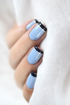 Marine Loves Polish: Nailstorming - Blue French manicure