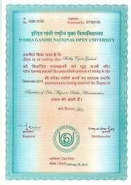 Image Result For Ignou B Com Certificate Format In Pdf Download