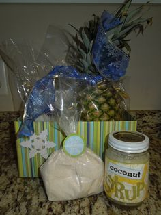 Coconut Syrup  - it's rich and divine!       1 cube of butter (no not use margarine)   Melt butter in a sauce pan, then add:     ...