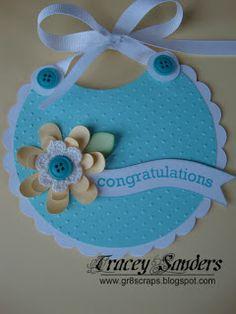 gr8scraps: Cricut Baby Bib Card