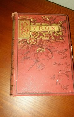 1884 T.Y. Crowell & Co.The Poetical Works of Lord Byron Byron's Poems Book