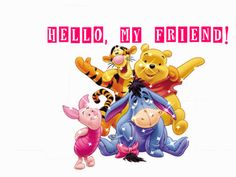 Hello my friend glitter images Hi Gif, Glitter Images, Chip And Dale, Hello To Myself, Winnie The Pooh, Smurfs, Cute, Friendship