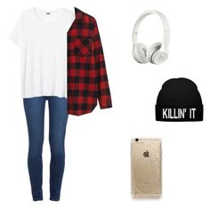 """•edgy look with a choice of accessories•"" by oliviafranco12 ❤ liked on Polyvore featuring Paige Denim, Madewell, Beats by Dr. Dre and Rifle Paper Co"