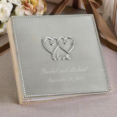 Two Hearts, One Love Wedding Guest Book | #exclusivelyweddings | #metallicwedding