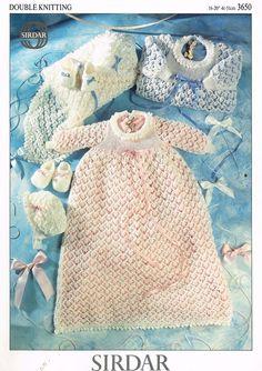 Free Knitting Pattern Cowl : Pingouin 7915 baby christening dress and shawl vintage knitting pattern PDF ...