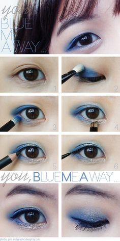 Nice blue eye makeup