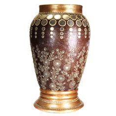 Large Decorative Vase - Cultural Elements