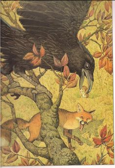 """""""The Fox and the Crow"""" ~ Don Daily"""