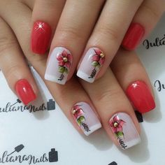 Best Nail Art Designs 2018 Every Girls Will Love These trendy Nails ideas would gain you amazing compliments. Spring Nails, Summer Nails, Ongles Roses Clairs, Best Nail Art Designs, Flower Nails, Cool Nail Art, Trendy Nails, Nail Arts, Manicure And Pedicure