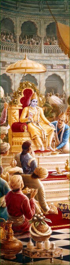 Lord Krishna-http://www.krishnalilas.com/73-the-deliverance-of-sisupala.htm