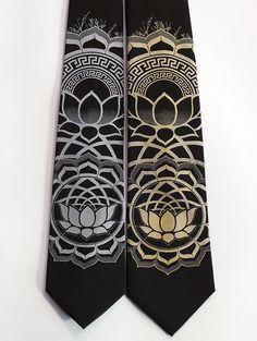 Lotus Necktie - Sacred Geometry Men's Tie