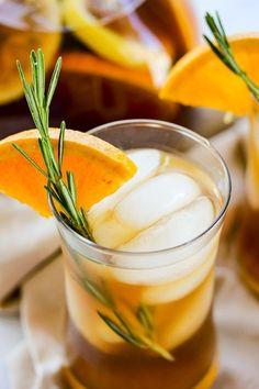 Rosemary Orange Ice Tea