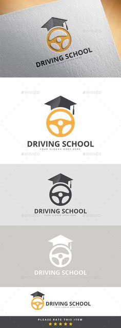 Driving School Logo: