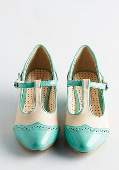 Care to Dance? Heel in Turquoise | Mod Retro Vintage Heels | ModCloth.com