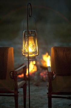 lanterns and fire