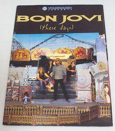 BON JOVI Concert Tour Program Art Book World Tour 1995 These Days