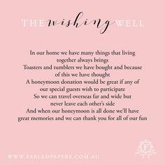 Wishing Well Poems Wedding Gift Poem, Diy Wedding, Wedding Gifts, Wedding Ideas, Reception Ideas, Wedding Reception, Wishing Well Poems, Invites, Wedding Invitations