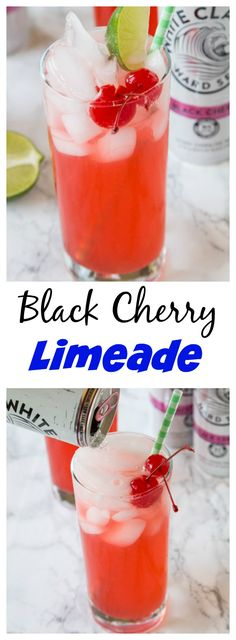 Black Cherry Limeade – a fun and easy cocktail recipe!  Add a little sweetness to your limeade with Black Cherry Hard Seltzer.