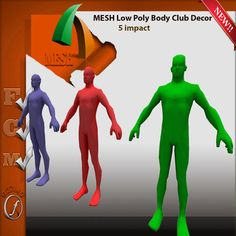 Mesh Body Low Poly Club Decoration 5 impact  F ull perm
