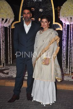 Akshay Kumar and Twinkle attend Tejas - Rriddhi's wedding reception