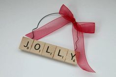 Scrabble Christmas Ornaments - Christmas Gift - Jolly - Christmas - Wedding Gift - Love Scrabble Christmas Ornament - Personalized Ornament