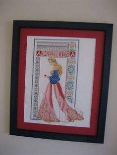 fb cross stitch conversions America celtic lady by MichaelTonyaWoodallLongshore