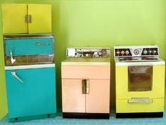Vintage Deluxe Reading Kitchen  Fridge, Stove, Sink  For Blythe, Barbie Via  Etsy