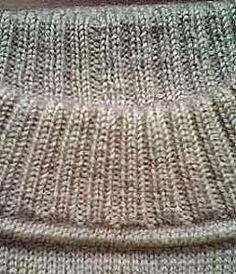 Как сделать такой аккуратный воротник свитера