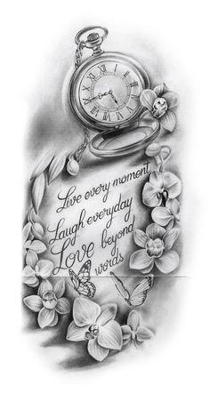 66 Badass Tattoo Ideas That You Really Want To Try 66 Badass Tattoo-Ideen die Sie wirklich ausprobieren möchten - Popular Tattoo Designs Dope Tattoos, Hand Tattoos, Badass Tattoos, Body Art Tattoos, Clock Tattoos, Tatoos, Time Clock Tattoo, Awesome Tattoos, Beautiful Tattoos