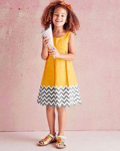Chevron Party Dress by Isabel Garreton - Girls