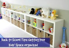 Back to School Tips: Getting Your Kids' Space Organized. #backtoschool #bts #home #organization