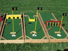 DIY Mini Golf Obstacles