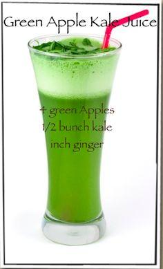 Green Apple Kale Juice!  #raw#vegan