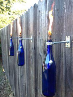 Wine Bottle Tiki Torch by Illuminuscreations