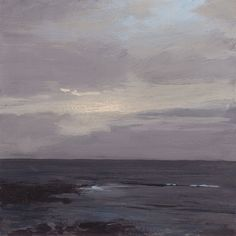 Winter Seascape Study (original painting). $100.00, via Etsy.